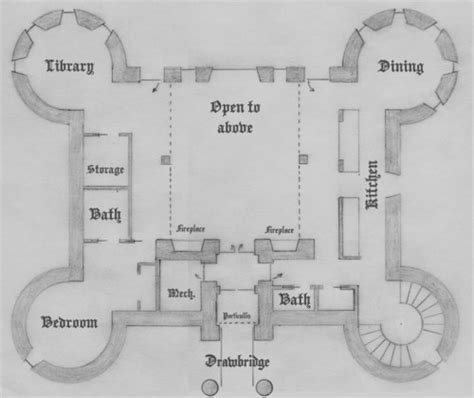 Floor Plan Of 4 Bedroom House by First Floor Four Tower Plan