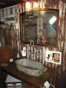 Rustic country bathroo