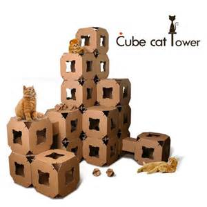 Cat Tunnel Sofa Cube Cat Tower Toy House Pet Cardboard Tunnel Block 5piece