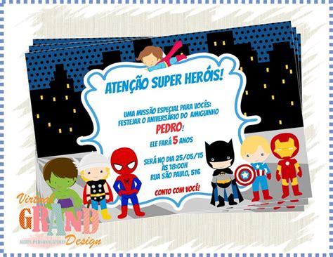 modelos de convite de aniversario para meninos 18 anos convite super herois 2 convites pinterest super
