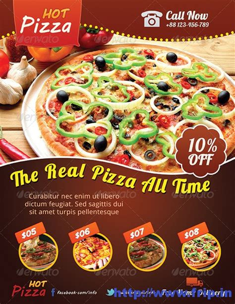 Pizza Sale Flyer Template by Best 40 Pizza Restaurant Flyer Print Templates 2016 Frip In