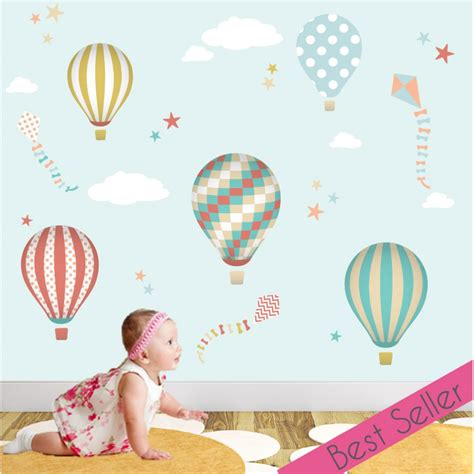 Air Balloons Wall Sticker air balloons and kites nursery wall stickers