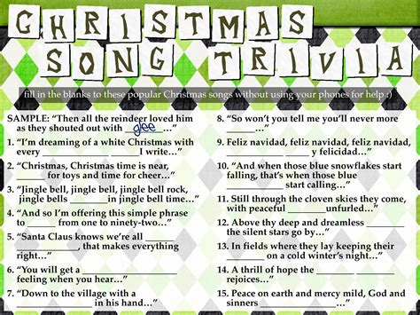 printable christmas song picture games freebie christmas song trivia youthministry com
