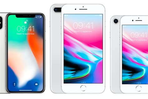 iphone 8 8 plus et iphone x une bataille serr 233 e