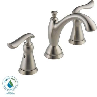 home depot delta bathroom faucets delta linden 8 in widespread 2 handle high arc bathroom