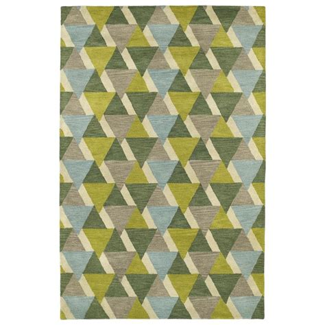 Lime Green Area Rug Shop Kaleen Rosaic Lime Green Indoor Handcrafted Area Rug Common 5 X 8 Actual 5 Ft W X 7 75