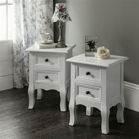 Bedside Tables Nightstands by White Bedside Tables Cabinets Units Nightstand Table With