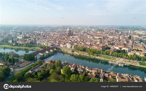 of pavia aerial view of pavia and the ticino river view of the