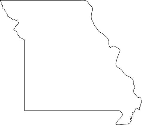 Missouri State Outline by Missouri Outline Map Coloring Pages