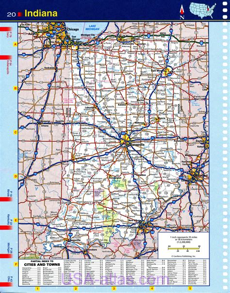 road map of indiana usa highway histories