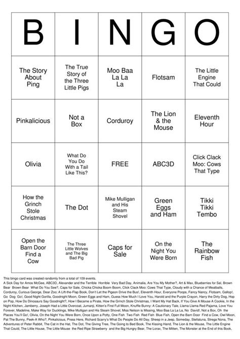 Baby Book Bingo Cards to Download, Print and Customize!