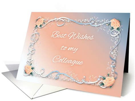 Wedding Congratulations Colleague by Congrats Colleague S Marriage Roses Ribbon Card 1437130