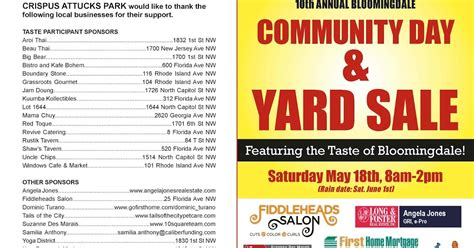 bloomingdale 10th annual crispus attucks park community