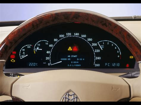 how cars engines work 2003 maybach 57 instrument cluster maybach 62 instruments 1920x1440 wallpaper