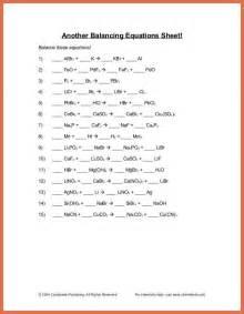 balance chemical equations worksheet bio exle