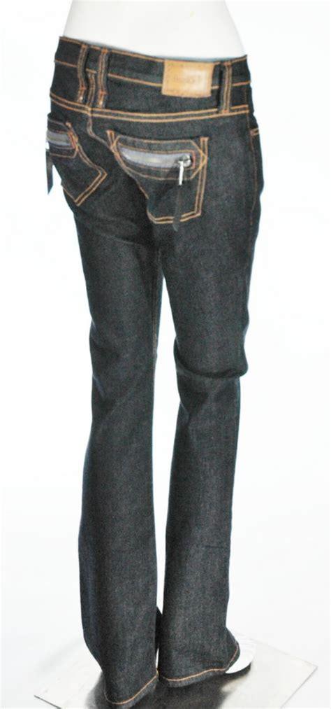 Denim Frankie B by Frankie B 5 Pocket Zipper Bootleg Denim Size