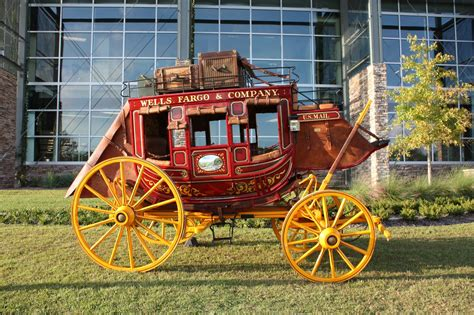 stage couch stagecoach horses will be outside wells fargo office in