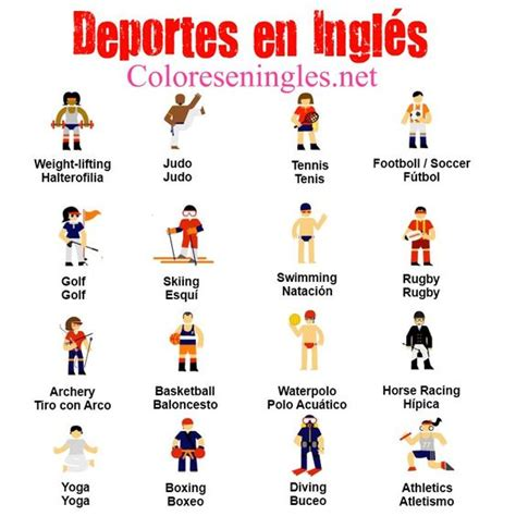 imagenes en ingles weekend los deportes en ingles ingl 233 s pinterest sports