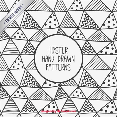 triangle pattern hipster hand drawn hipster triangles pattern vector free download