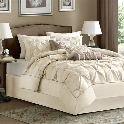 ivory bed bag luxury 7 pc comforter set cal king
