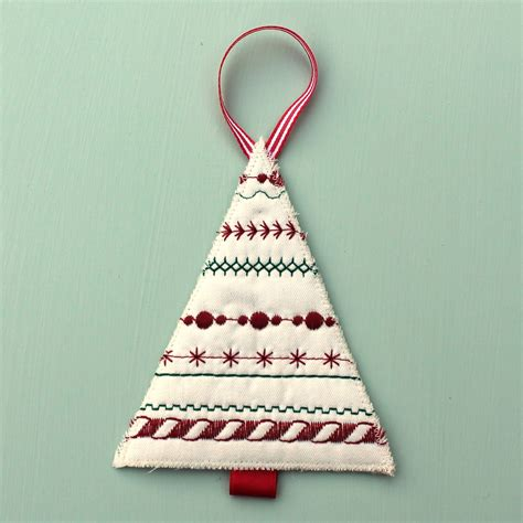 Tree Handmade Decorations - advent trees using decorative stitches sewing spark