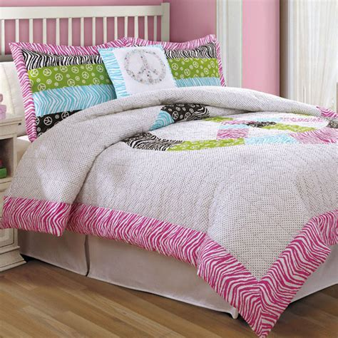 peace sign comforter with sham modern comforters and