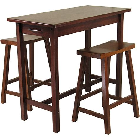 kitchen island 3 breakfast set with saddle stools