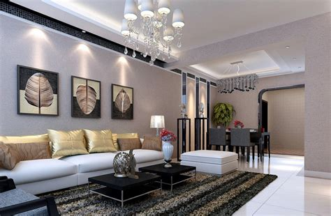 living room interior designs images gray living dining room interior design by pastoral style