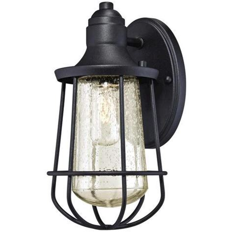 Westinghouse Elias Black 1 Light Outdoor Wall Light At Lights Menards