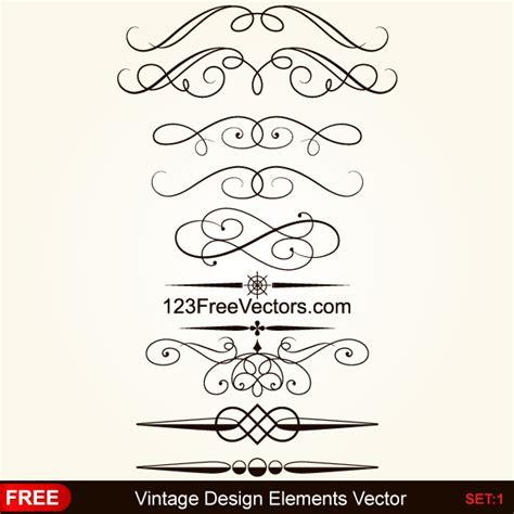 calligraphic vintage design elements vector illustration vintage calligraphic decorative elements vector by