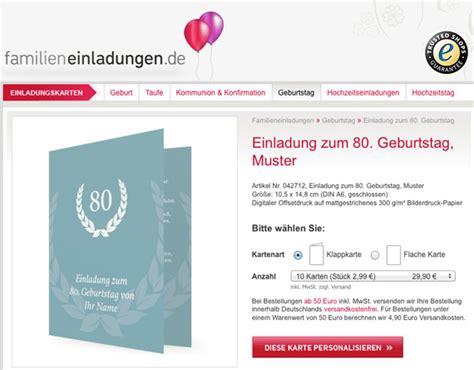 Muster Einladung Karte Einladung Zum 80 Geburtstag