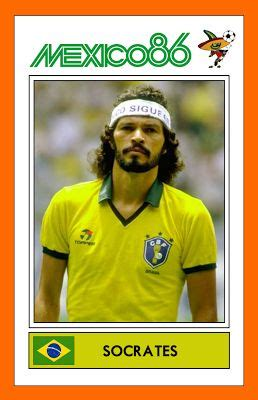 libro doctor socrates footballer philosopher socrates with brazil mexico 86 retro panini stickers socrates brazil and mexico