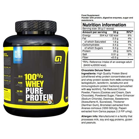 protein f 100 protein 100 whey powder chocolate nutrition facts