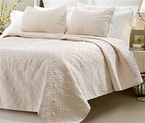 ivory king coverlet web linens quilted coverlet set ivory king 3 piece in