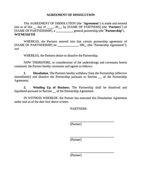 sample business dissolution agreement templates