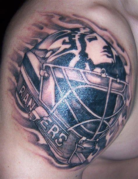 tribal tattoo york new york rangers mike richter goalie mask hockey