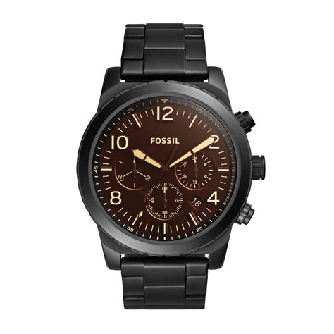 Fossil Black black chronograph fossil