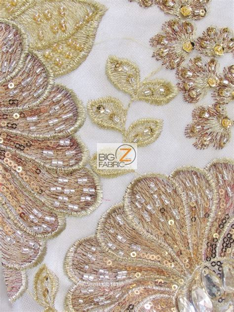 beaded fabric sequins beaded gem mesh fabric sequins fabric