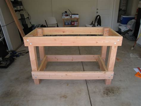 homemade work bench wood garage workbench plans the better garages diy