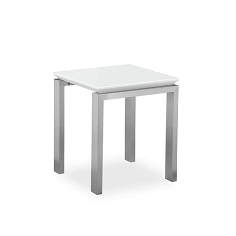 santos white square dining table