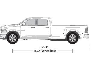 Vehicle Wrap Templates For The Dodge Ram 2500 Pickup Truck Station Vehicle Templates