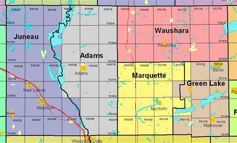 adams county section 8 wisconsin public land survey records original field notes