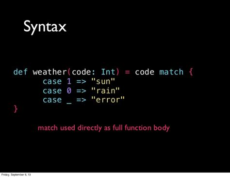 pattern matching failed ocaml intro to pattern matching in scala