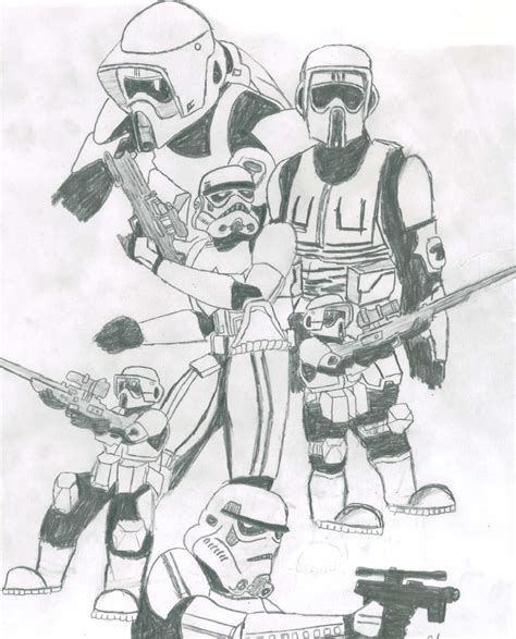 scout trooper coloring pages how to draw scout trooper