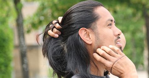 tying of long hair how to do the perfect man bun slikhaar blog
