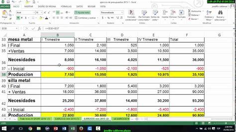020 ejemplo de presupuesto mano de obra materiales y elaborar presupuesto de mano de obra directa mod youtube