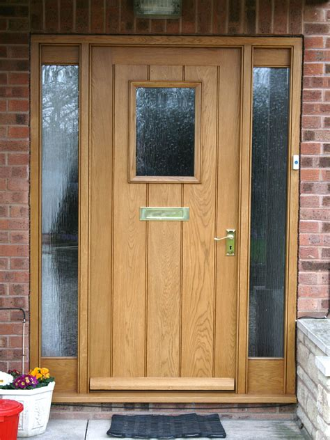 Oak Exterior Doors Front Doors Enchanting Oak Front Doors And Frame Solid Wood Front Doors And Frames Wooden