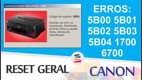 reset tinta mp287 tutorial reset geral impressoras canon erros 5b00 5b01