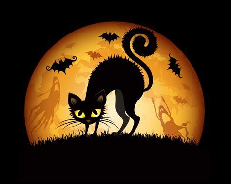 imagenes jpg halloween halloween cat art wallpaper 1280x1024 26456