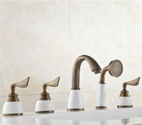 brass bathtub faucets shop bathsignature bathtub faucet antique brass at bathselect